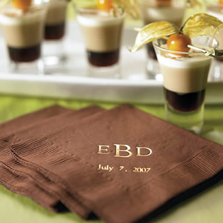 Personalized Wedding Napkins